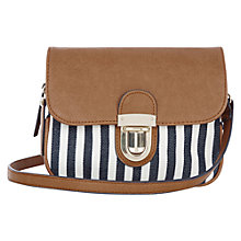 Buy Oasis Tucklock Stripe Bag, Multi Blue Online at johnlewis.com