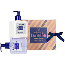 Buy L'Occitane Relaxing Lavender Hand Wash & Lotion Duo, 2 x 300ml Online at johnlewis.com