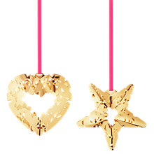Buy Georg Jensen Hanging Heart and Star Christmas Decoration Online at johnlewis.com
