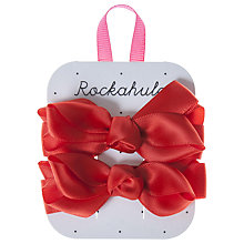 Buy Rockahula Satin Ruffle Bow Clips Online at johnlewis.com