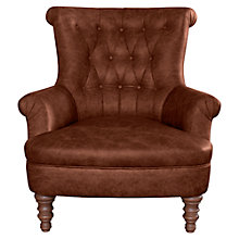 Buy John Lewis Hepburn Leather Armchair Online at johnlewis.com