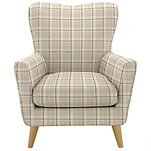 Buy John Lewis Thomas Armchair, Glenshee Check Natural Online at johnlewis.com
