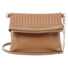 Buy Oasis Wendy Weave Across Body Clutch, Tan Online at johnlewis.com