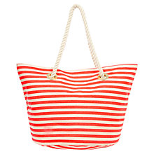Buy Oasis Stoupa Stripe Bag, Multi Orange Online at johnlewis.com