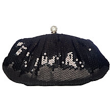 Buy Chesca Sequin Oval Clutch, Black Online at johnlewis.com