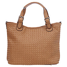 Buy Oasis Wendy Weave Tote Bag, Tan Online at johnlewis.com