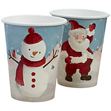 Buy Ginger Ray Snowman and Santa Paper Cups, Pack of 8 Online at johnlewis.com
