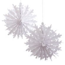 Buy Ginger Ray Snowflake Hanging Decorations, Pack of 2 Online at johnlewis.com