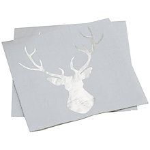 Buy Ginger Ray Stag Lunch Paper Napkins, Pack of 20 Online at johnlewis.com
