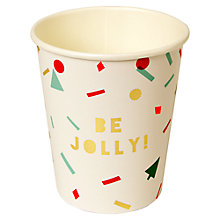 Buy Meri Meri Confetti Paper Cups, Pack of 8 Online at johnlewis.com