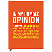 Buy Knock Knock Humble Opinion A5 Journal Online at johnlewis.com