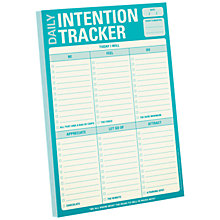 Buy Knock Knock Daily Intention Tracker Notepad Online at johnlewis.com