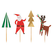 Buy Meri Meri Very Merry Party Picks, Pack of 24 Online at johnlewis.com
