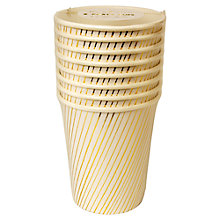 Buy Meri Meri Gold Foil Stripe Cups, Pack of 8 Online at johnlewis.com