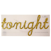 Buy Meri Meri NYE Gold Glitter Garland, Pack of 2 Online at johnlewis.com