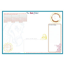 Buy Dodo Pad Dodo Jotter A3 Notepad, White & Blue Online at johnlewis.com