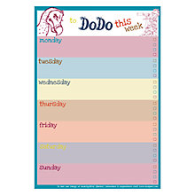 Buy Dodo Pad Dodo Weekly Reminder B5 Notepad, White & Blue Online at johnlewis.com