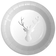 Buy Ginger Ray Silver Stag Paper Plates, Pack of 8 Online at johnlewis.com