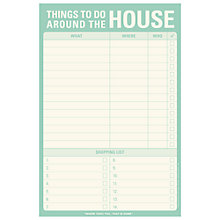 Buy Knock Knock Things to Do Around the House Notepad Online at johnlewis.com