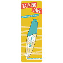 Buy Knock Knock Whatever Talking Tape Online at johnlewis.com