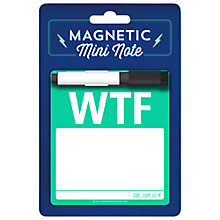 Buy Knock Knock WTF Magnetic Mini Notepad Online at johnlewis.com
