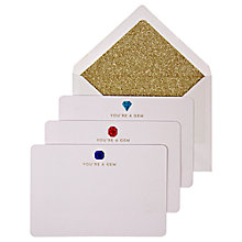 Buy Meri Meri You're a Gem Notecards, Pack of 6 Online at johnlewis.com