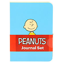 Buy Peanuts A6 Journal, Set of 3 Online at johnlewis.com
