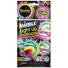 Buy Illoom Marble LED Balloons, Pack of 5 Online at johnlewis.com