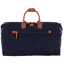 Buy Bric's X Travel Nylon Leather Trim Medium Holdall, Blue Online at johnlewis.com