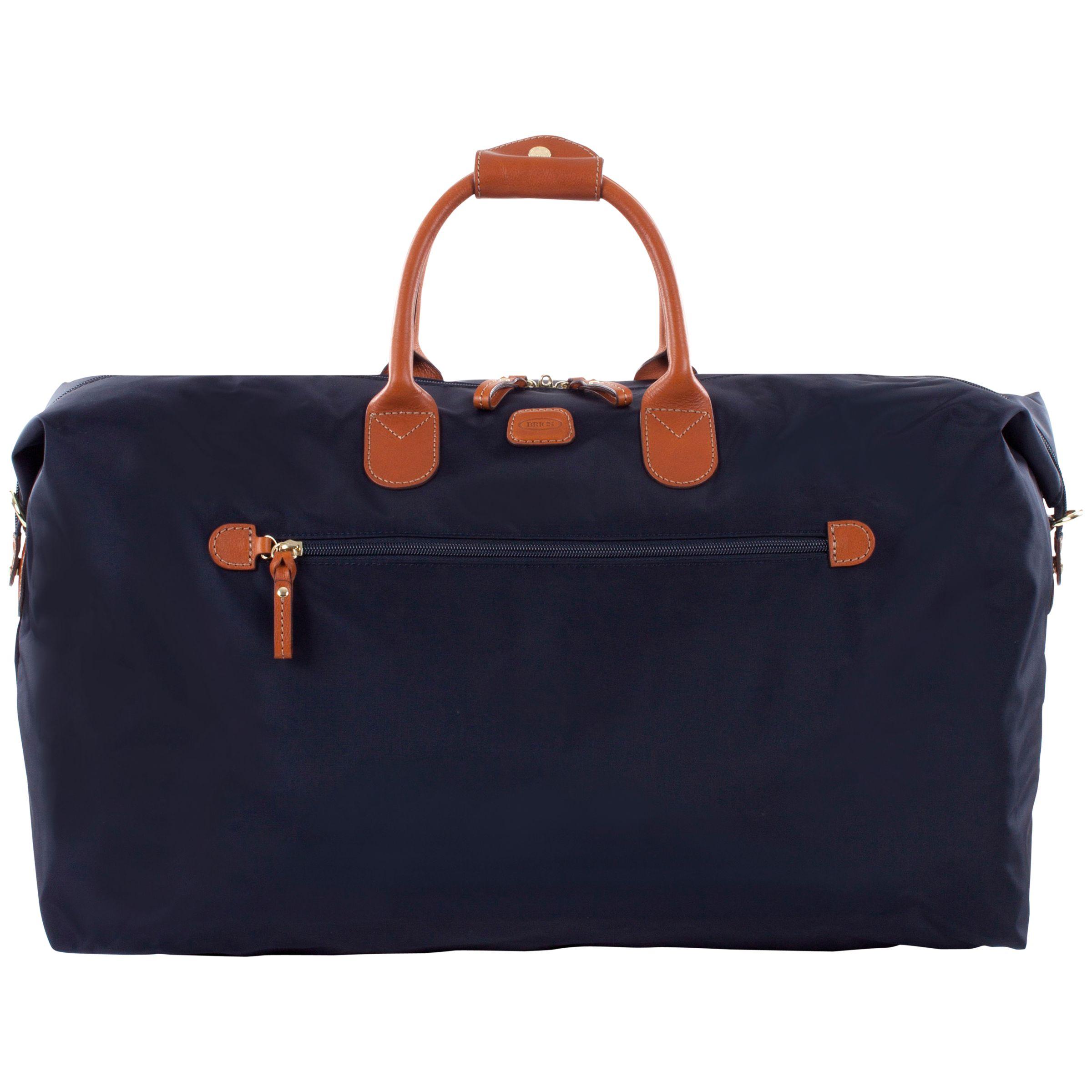 Bric's Bric's X Travel Nylon Leather Trim Medium Holdall, Blue