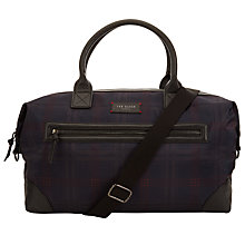 Buy Ted Baker Javier Check Holdall, Navy Online at johnlewis.com