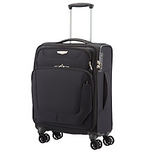 Buy Samsonite Spark 55cm 4-Wheel Cabin Suitcase, Black Online at johnlewis.com