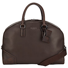 Buy Ted Baker Promsey Leather Holdall, Chocolate Online at johnlewis.com