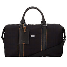 Buy Ted Baker Chekkak Wool Holdall, Black Online at johnlewis.com