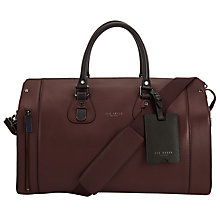 Buy Ted Baker Megabag Leather Holdall Online at johnlewis.com