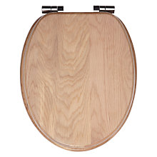 Buy John Lewis FSC Washed Oak Toilet Seat Online at johnlewis.com