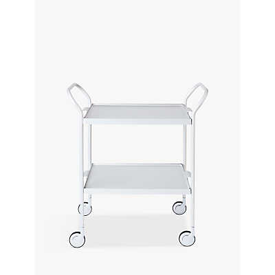 Image of Kaymet Trolley with 2 Trays, Silver