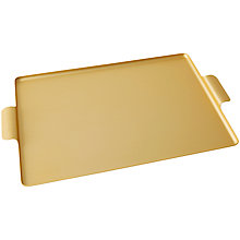 Buy Kaymet Large Tray, Gold Online at johnlewis.com