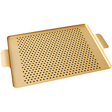 Buy Kaymet Tray with Rubber Grips, Gold Online at johnlewis.com