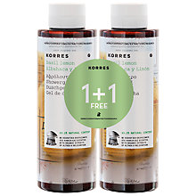 Buy Korres Basil Lemon Shower Gel, 2 x 250ml Online at johnlewis.com