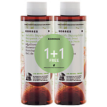 Buy Korres Bergamot Pear Shower Gel, 2 x 250ml Online at johnlewis.com
