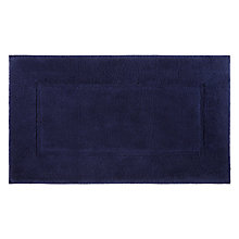 Buy John Lewis Egyptian Cotton Large Deep Pile Bath Mat, Navy Online at johnlewis.com