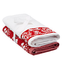 Buy John Lewis Merry Christmas Guest Towel Bale Online at johnlewis.com