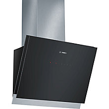Buy Bosch DWK068G61B Chimney Cooker Hood, Black Glass Online at johnlewis.com