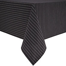 Buy Lexington Pinstripe Rectangular Tablecloth, Grey/White Online at johnlewis.com