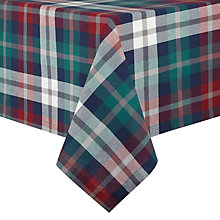 Buy Lexington Check Rectangular Tablecloth, Green Online at johnlewis.com