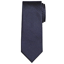 Buy John Lewis Made in Italy Semi Plain Silk Tie, Navy Online at johnlewis.com