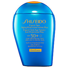 Buy Shiseido Wetforce Expert Sun Aging Protection Lotion SPF 50+, 100ml Online at johnlewis.com