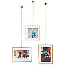Buy Umbra Fotochain Display, 3 Frames, Matt Brass Online at johnlewis.com