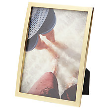 "Buy Umbra Senza Photo Frame, 5 x 7"", Matt Brass Online at johnlewis.com"